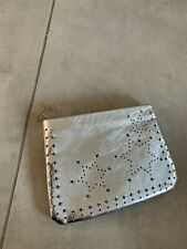 New Tokyo Silver Leather Star Mini Pouch Bag