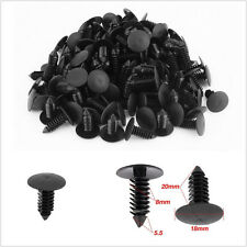 100 Pcs Plastic Car Bumper Fender Trim Clip Fastener Retainer 8mm Hole Universal