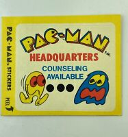 Vintage Pac-Man Sticker Card #13 FLEER 1980
