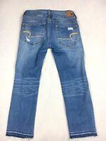 American Eagle AEO Super Stretch Artist Crop Denim Jeans - Women's Size 2