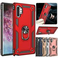 For Samsung Galaxy Note 10 Magnetic Support Metal Ring Stand Armor Case Cover