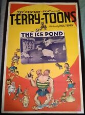 """Terry-Toons """"The Ice Pond"""" 1939 Vintage 1-Sheet Poster 27"""" x 41"""""""