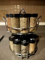 18-JAR Revolving Spice Rack Organizer, Spinning Countertop Herb and Spice Rack