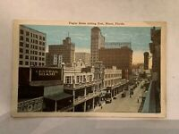 Vintage Flagler Street Looking East Miami Florida Postcard