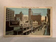 Vintage Flagler Street Looking East Miami Florida Postcard