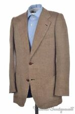 KITON for BIJAN Solid Brown Woven Wool Tweed Blazer Sport Coat Jacket - 38 R