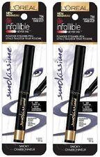 (2)Loreal Infallible Smokissime Never Fail Powder Eyeliner Pen,704 Purple Smoke!