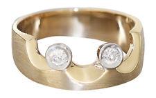 Designerring Ring Gold 585 mit Brillant Goldring Brillantring Damenring 14 Kt