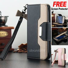 Luxury Leather Wallet Card Flip Case Stand Cover For Samsung Galaxy S7 S8 Note 8