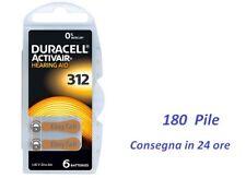 180  batterie   DURACELL  312 Activair per apparecchi acustici protesi acustiche