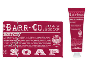 Barr Co Berry Bar Soap with Mini Hand Cream by k. hall designs