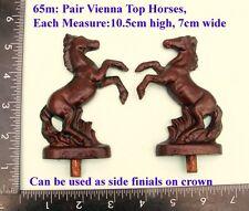 """65M """" Pair Horses"""" clock case / furniture DIY"""
