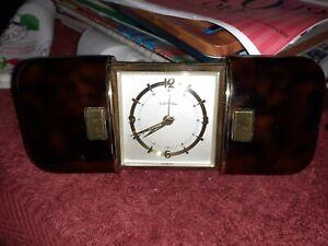 Vintage Estyma West German Sliding Case Travel Alarm Clock