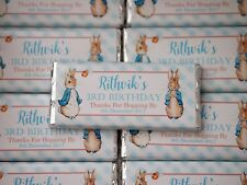 Personalised Chocolates Peter Rabbit Birthday-Can do ANY design MUST ORDER 20 +