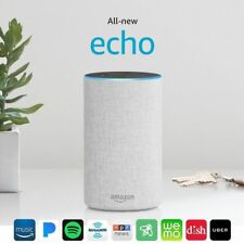 All New Amazon Echo 2nd Generation 2017 w/ improved sound by Dolby - Sandstone