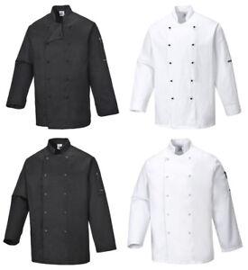 Kochjacke, Kochkleidung, Bäckerjacke, Gastronomie, Kochmütze, PORTWEST C833/834