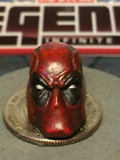 MARVEL LEGENDS PAINTED/FITTED HASBRO DEADPOOL 1:12 HEAD CAST FOR 6 IN FIGURE