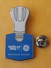 SOCHI Russia 2014 Olympic GE ( General Electric ) Light Bulb sponsor rare pin