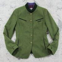 Susanne Von Dornberg Women's Virgin Wool Equestrian Green Riding Jacket G 36 6