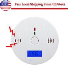 1pcs Lcd Co Carbon Monoxide Poisoning Sensor Alarm Warning Detector Tester Us