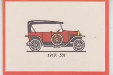 Monty Gum trading card 1972 Oldtimers 1919 - FIAT 501