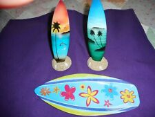 Surf Board Group of 3 with 2 stands