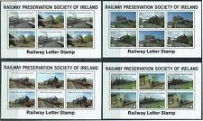 IRELAND - 'RAILWAY PRESERVATION SOCIETY' Cinderella Set of 4 MNH [B6400]