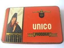 Boîte en fer Cigares UNICO sigaren Piccolo Belgique Tin Elegante senorita