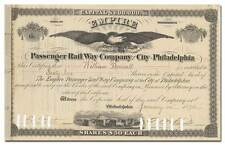 Empire Passenger Rail Way Company of the City of Philadelphia Stock Certificate