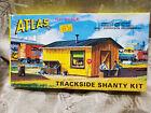 RARE c1962 Atlas Trackside Shanty Kit 702 Vintage HO Model Railroad Scenery NIB