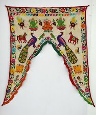 Vintage Door Valance Window Decor Wall Hanging Hand Embroidered 44 x 54 inch X05