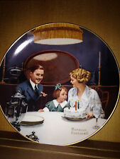 Bradex Knowles Norman Rockwell The Birthday Wish plate