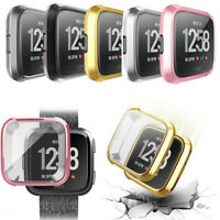 Screen Guard Protector Soft Gel Case Cover For Fitbit Versa Protective Cover
