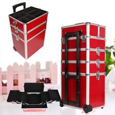 5 in 1 Alu Kosmetikkoffer Trolley Koffer Schminkkoffer Beauty Case Friseurkoffer