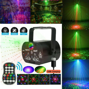 90 Muster RGB Laserlicht DJ Projektor LED Disco Beleuchtung für Home Party DHL