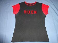 Uzi Brand Vixen Baby Doll Girlie Shirt XL Women Hot Topic Spencer Black Red Sexy