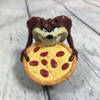 1995 TASMANIAN DEVIL Eating Pizza Figure Warner Bros Looney Tunes Taz Vintage