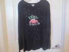 Talbot's sweater sz, 2X, navy, Holiday
