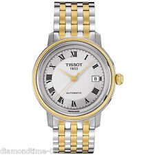 NEW TISSOT BRIDGEPORT TWO-TONE WOMEN'S WATCH T045.207.22.033.00 T0452072203300