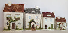 "4 PCS VTG Otagiri Japan Hand Crafted Cottages Houses Canisters Porcelain T10"""