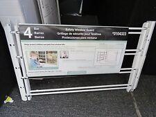 STEEL WINDOW BURGLAR BAR Adjustable Width Child Safety Guard 4 Bar White Protect