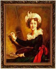Ölbild Ölgemälde Selbstportrait Elisabeth Vigee-Lebrun HANDGEMALT, Gemälde 50x60