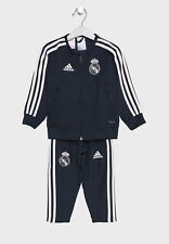 Real Madrid CF adidas Kid's Pre Match Tracksuit - 3-4 Years - Black - New