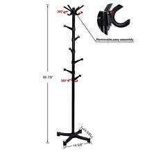 New SONGMICS Coat Rack Purse Rack Hall Tree with 14 Rotating Plastic Hook Black