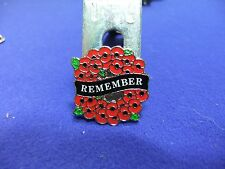 vtg badge poppy day wreath design remembrance day charity appeal pin badge