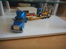 Siku White Truck + Trailer + Volvo FL10 Race Truck - Blue/Yellow (SIku nr: 3914)