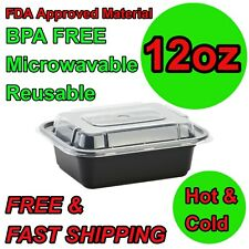 12oz Meal Prep Containers Small Food Storage BPA FREE Microwavable Lunch Snack