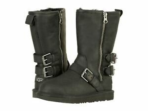 Authentic Ugg Kaila 1017347K Black Water Resistant Youth / Women Boot