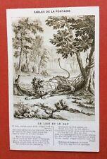 CPA. LE LION ET LE RAT. Fables de LA FONTAINE. 1919. Éditions A. Quantin.
