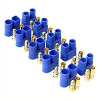 10 Pairs Male Female EC3 Style Connector 20 Pairs 3.5mm Gold Bullet Battery Plug